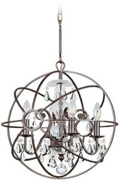 Crystorama luna collection 6 light matte whiteantique gold 580 solaris english bronze modern crystorama chandelier euro style lighting mozeypictures Choice Image