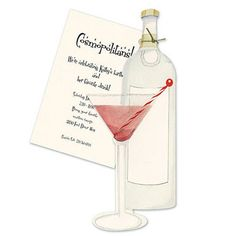 cocktail martini invitation