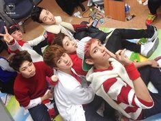 BTS at Music Bank, backstage