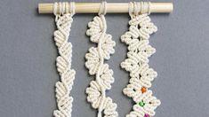 3 FLORAL MACRAME LEAF PATTERNS FOR MICRO & MACRO MACRAMÉ - YouTube Macrame Wall Hanging Diy, Macrame Art, Macrame Design, Macrame Projects, Macrame Jewelry, Macrame Bracelets, Art Projects, Macrame Bracelet Patterns, Free Macrame Patterns