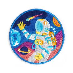 Are you an experienced deep space explorer? Do you have a fancy telescope? Have you ever seen a space movie?  Then this patch is for you!! Discover this patch and show the world that you want to know what lies beyond.  Iron-on backing. Measures 3 circle