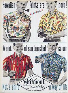 Men's 1950s Whitmont Hawaiian Shirts