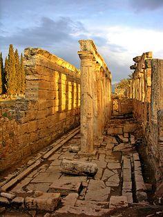 http://www.greeneratravel.com/ Cambodia Tours - Roman Latrine . Pamukkale, Turkey