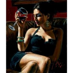 Tess IV by Fabian Perez ❤ liked on Polyvore featuring home and home decor