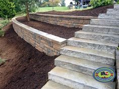Could your home do with a little more garden landscaping? In fact you should be very excited about it because there is nothing more fun than garden landscaping, it will get your imagination worki Cheap Retaining Wall, Retaining Wall Steps, Backyard Retaining Walls, Retaining Wall Design, Railroad Tie Retaining Wall, Concrete Block Retaining Wall, Landscaping Around House, Landscaping On A Hill, Landscaping With Rocks