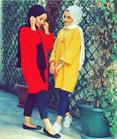 Best Freinds, We Are Best Friends, Love Couple, Hijab Outfit, Muslim Women, Hijab Fashion, Besties, Couples, Outfits