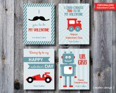 Tarjeta de San Valentín personalizada imprimible / por MarleyDesign, $8.50