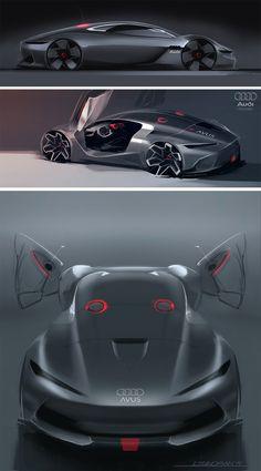 Audi Avus MKII Concept Design Sketches by Liviu Tudoran - Car Body Design