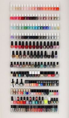 8 Nail Polish Organizer Ideas You'll Want to Copy Immediately Nails nail polish rack Nail Polish Storage, Clear Nail Polish, Nail Polish Colors, Nail Polishes, Nail Polish Racks, Organize Nail Polish, Diy Makeup Storage, Diy Storage, Storage Ideas