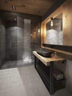 Luxury Bathroom Master Baths Wet Rooms is completely important for your home. Whether you choose the Small Bathroom Decorating Ideas or Luxury Bathroom Master Baths Benjamin Moore, you will make the best Luxury Master Bathroom Ideas for your own life. Modern Bathroom Design, Bathroom Interior Design, Modern Luxury Bathroom, Luxury Shower, Modern Contemporary Bathrooms, Ikea Interior, Luxurious Bathrooms, Modern Bathroom Lighting, Black Interior Design