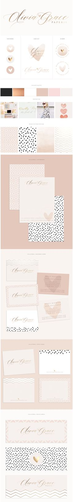 Brand Design for Olivia Grace Paperie by Brand Me Beautiful | www.brandmebeautiful.co.uk