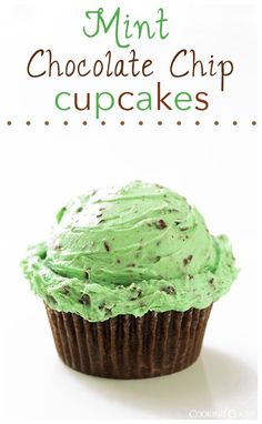 Chocolate Cupcakes with Mint Chocolate Chip Buttercream Frosting - these are a cupcake you will dream about! AMAZINGLY delicious! #recipe #dessert #cupcake