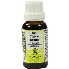 CISTUS CANADENSIS F Komplex Nr.161 Dilution:   Packungsinhalt: 20 ml Dilution PZN: 04484756 Hersteller: NESTMANN Pharma GmbH Preis: 3,84…