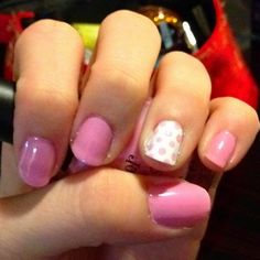 Brushstroke Blush and Paper Mch Finger Paints nail polish  Pretty in Pink Polka Dots #nailcolour