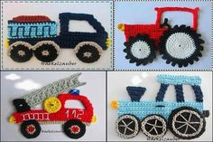 New crochet flowers easy boys Ideas Knit Or Crochet, Crochet Motif, Crochet For Kids, Irish Crochet, Crochet Flowers, Crochet Toys, Crochet Applique Patterns Free, Knitting Patterns, Crochet Appliques