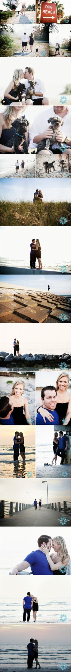 dog/beach engagement... i love how the dog is included! a must.