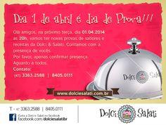 Convite Online Dolci & Salati - Prova de doces e salgados.