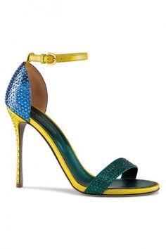 Sergio Rossi P/E 2013 : Sandali gioiello con cinturino giallo