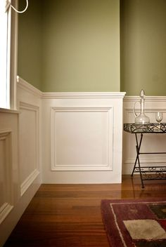Pine Interior Doors from Cleary Millwork Craftsman Dining Room, Dining Room Wainscoting, Dining Room Walls, Installing Wainscoting, Wainscoting Styles, Wall Molding, Moulding, Pine Interior Doors, Moldings And Trim