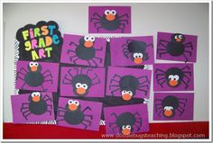 Silly Spider Art Project From Doodle Bugs Halloween Activities, Art Activities, Halloween Themes, Halloween Crafts, Halloween Week, Homemade Halloween, Kid Crafts, Halloween Decorations, Spider Crafts