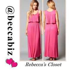 Beautiful Maxi Dress in Fuschia Available: 1 small, 2 medium and 2 large.   You may purchase this listing.     ⚡️Please state which size you are buying.       RETAIL PRICES ARE FIRM UNLESS BUNDLED.   10% off Bundles of 2 or more.    (Photos used with permission of designer) Dresses Maxi