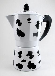 Cafetera italiana, diseño vaca