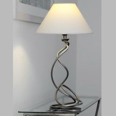 tangle wrought iron table lamp with shade