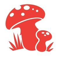 Paddestoel, rood, fluweel-t-shirt Motif - PeppAuf.de