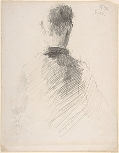 A Man in a Jacket, Seen from the Back  James Ensor