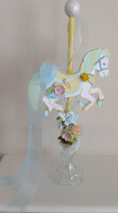 Items similar to Baby Shower Carousel - Carousel Party Decoration - Carousel Horse - Carousel Centerpiece, Baby Shower Centerpiece on Etsy Carousel Birthday Parties, Carousel Party, Birthday Table, Birthday Decorations, Birthday Ideas, Balloon Centerpieces, Baby Shower Centerpieces, Carnival Baby Showers, Baby Shower Niño