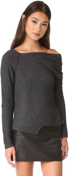Free People Love And Harmony Sweater  Tonal piping trims the angular seams on this asymmetrical, ribbed-knit Free People sweater. Long sleeves.  affiliate link
