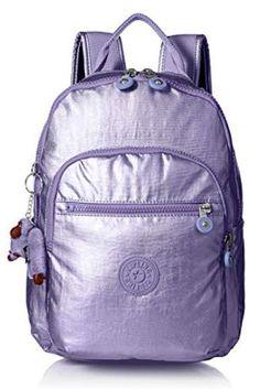 Kipling Women's Seoul GO Small Backpack - Metallic Mist Purple One Size Sling Backpack Purse, Kipling Backpack, Leather Backpack Purse, Kipling Bags, Small Backpack, Satchel Purse, Satchel Handbags, Leather Satchel, Leather Handbags
