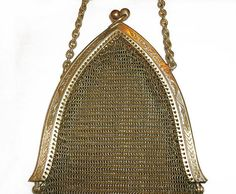 Antique Victorian Gold Mesh Purse / Bag by InTimePast on Etsy