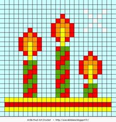 Avec de la laine: Grilles pour Noël  - Several free pixel squares for Christmas.