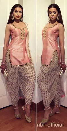 Classy Patiala Salwar Outfits- Patiala shalwar attire is generally linked with the subcontinent and Middle Eastern states since it is often considered as a traditional outfit in Pakistan, India, and Bangladesh. Patiala Dress, Punjabi Dress, Pakistani Dresses, Indian Dresses, Salwar Kameez, Punjabi Suits, Dhoti Salwar Suits, Churidar, Patiala Pants