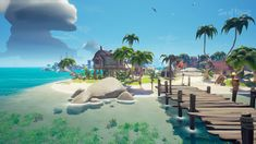 Sea of Thieves © Rare Low Poly, Episode Interactive Backgrounds, Sea Of Thieves, Game Themes, Modelos 3d, Cult Following, Game Background, Environment Concept Art, Cinema 4d