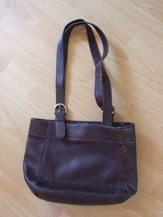 Vintage 90s Coach Designer Bag Genuine Leather Brown Unique Handbags 2970b29d5eb0f