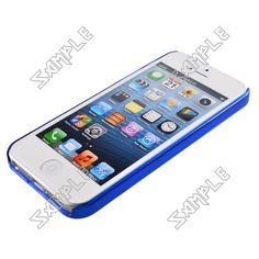 Plastic Bumper Frame Case for iPhone 5 (Blue) $1.00