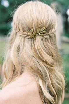 Leaf Hair Pin  Wedding Hair Style  Trending Hair Pin by WILDSOUL19