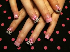 zebra and bows - Nail Art Gallery