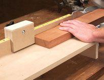 Adjustable Miter-Saw Stop - Woodworking Shop - American Woodworker