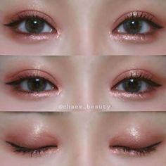 5 Tips For Beautiful Lashes Korean Makeup Look, Asian Eye Makeup, Makeup Eye Looks, Cute Makeup, Pretty Makeup, Kiss Makeup, Makeup Art, Korean Makeup Tutorials, Ulzzang Makeup Tutorial