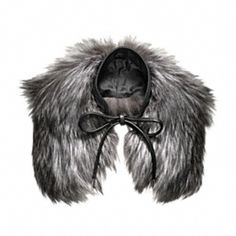 Silver Fox Fur Tie Scarf - Coach