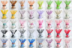 Papierowe słomki - onad 50 wzorów i kolorów! - partymika