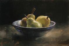 "Douglas Fryer ""Green Pears in the Morning Light"", 8"" x 12"""