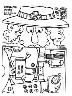 girl scout birthday coloring pages | scout ideas on Pinterest | Girl Scouts, Troops and Girl ...
