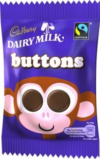 Cadbury's Milk Chocolate Buttons 32.8g (1.2oz) 6 Pack Even more yummy