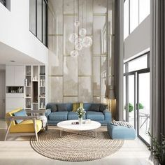 Are you wondering about how you could launch your living room to the top rung of the trend ladder? What about removing the ceiling and creating a double height