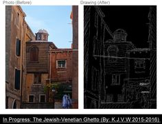 https://flic.kr/p/EMzXJq | In Pogress: The Jewish-Venetian | I like that wooden part with that small dome. (there's the hidden French Synagogue if i'm right.)  I used the un-retouched photo of ''The Synagogue?'' for tracing.