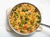 Chicken and Rice Casserole Recipe: 4 stars on food network, uses rotisserie chicken, easy peasy